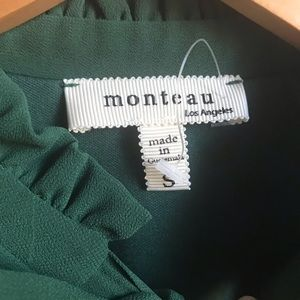 Monteau Tops - Monteau Green high neck Blouse Small